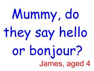 Hello or bonjour 2